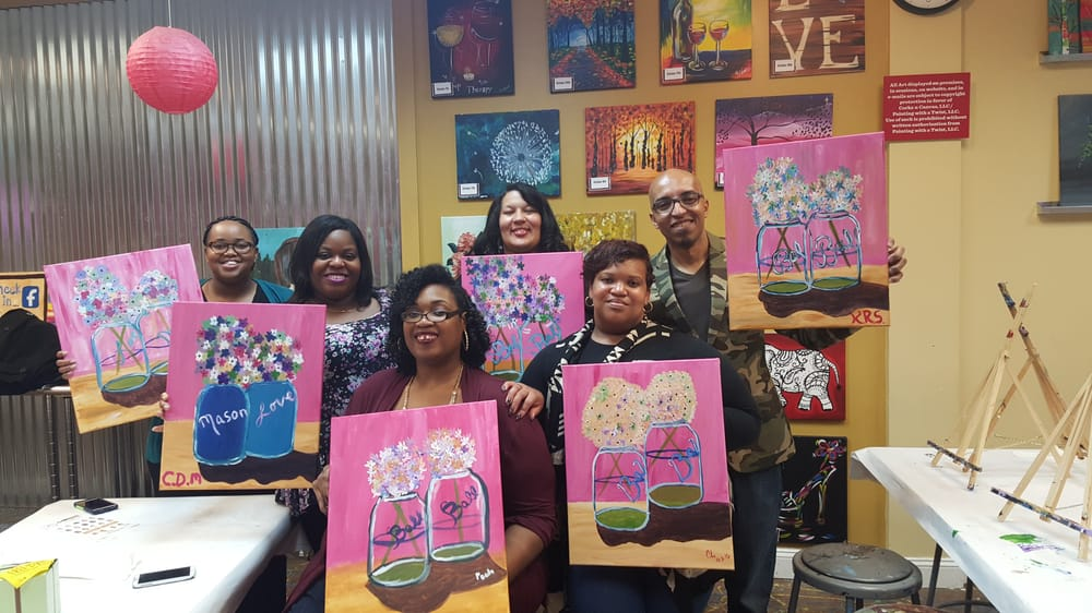 Those flowers weren 39 t as easy as they looked yelp for Painting with a twist charlotte nc