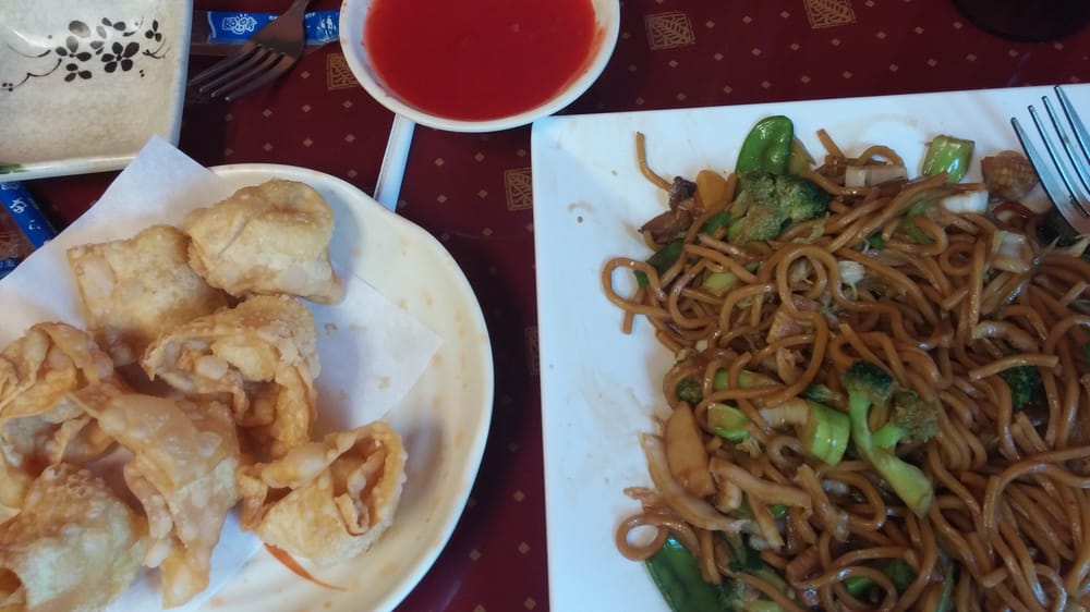 won tons and veggie lo mein yelp