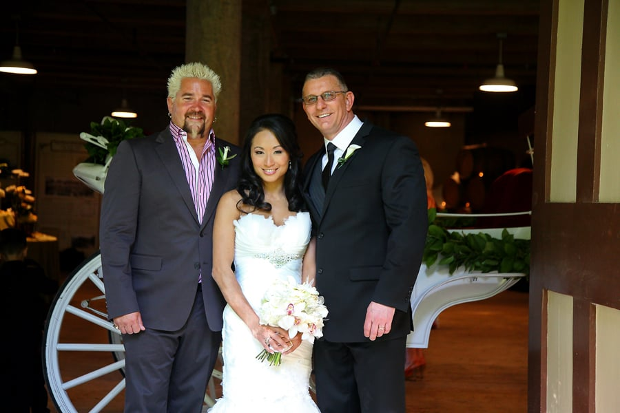 Robert Irvine And Gail Kim On Their Wedding Day With Best Man Guy Fieri Wedding Impossible On