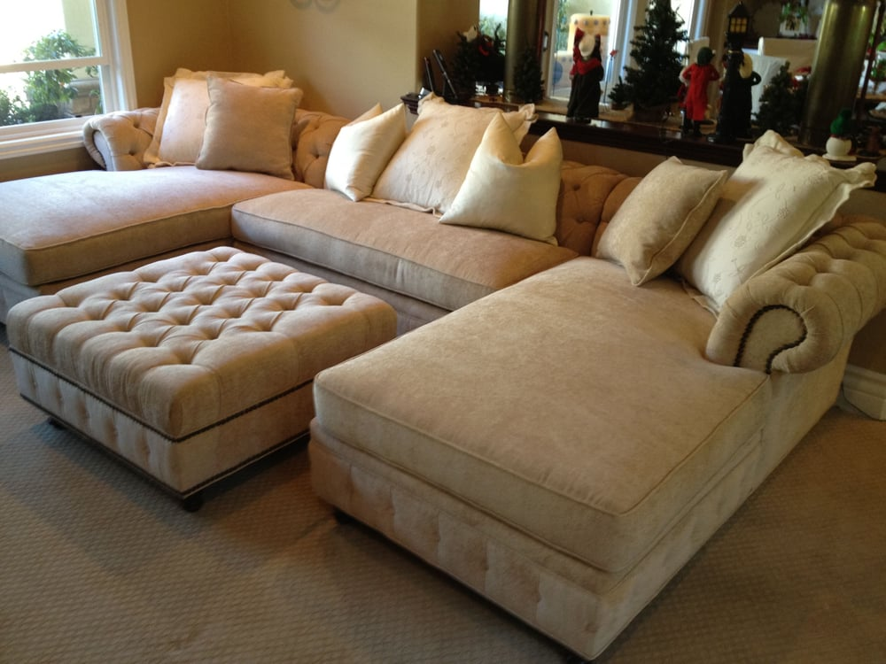 Kenzie chaise sofa chaise sectional with extra long for Chaise and ottoman