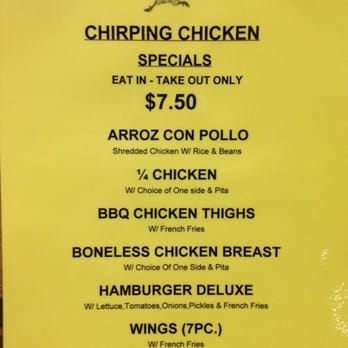 Chirping Chicken Hell S Kitchen Menu