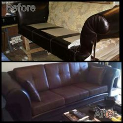 Great Photo Of River City Upholstery   Richmond, VA, United States. Reupholster  Leather Sofa