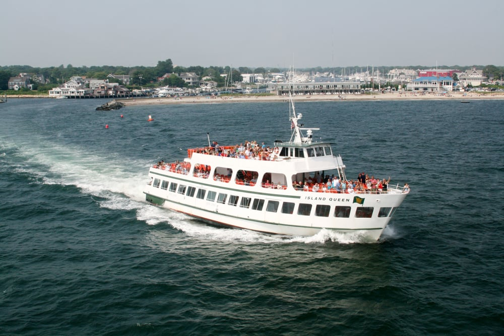 Island Queen Ferry In Falmouth