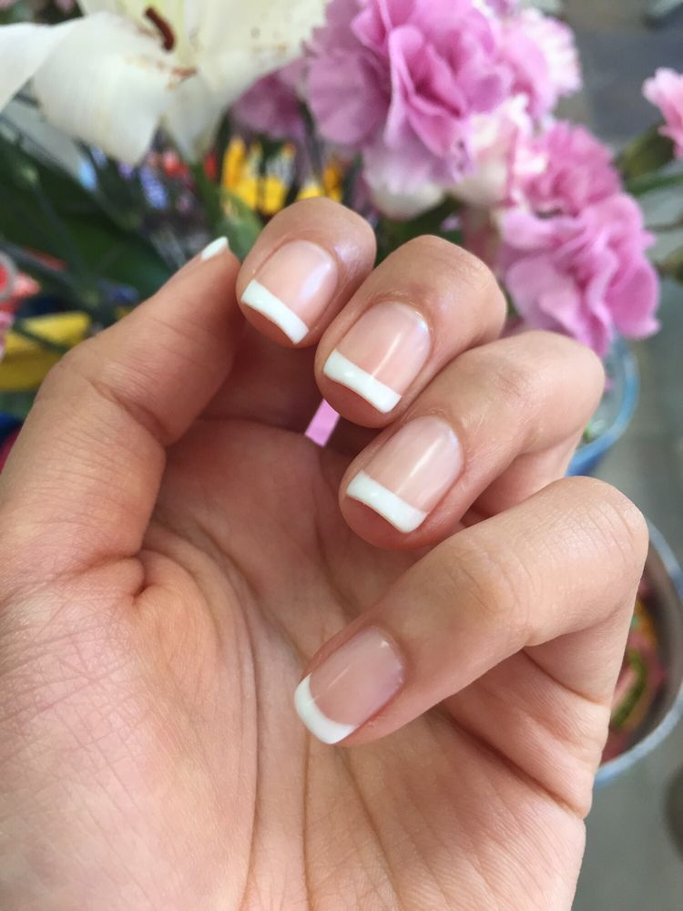 Loving my French style nails! Yao yao did a great job! She was very ...