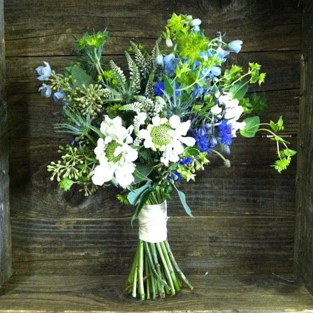 Bride's Wildflower Bouquet Of Scabiosa, Cornflower