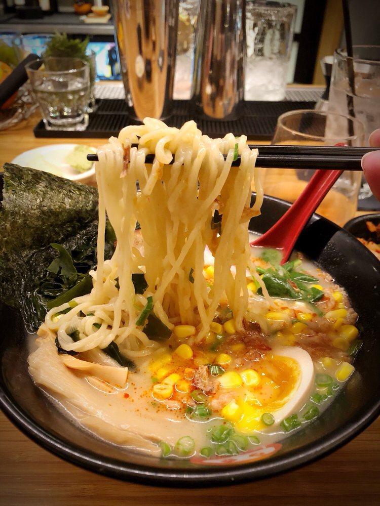 Photo of Kome Sushi Kitchen - Austin, TX, United States. Spicy Tonkotsu Ramen