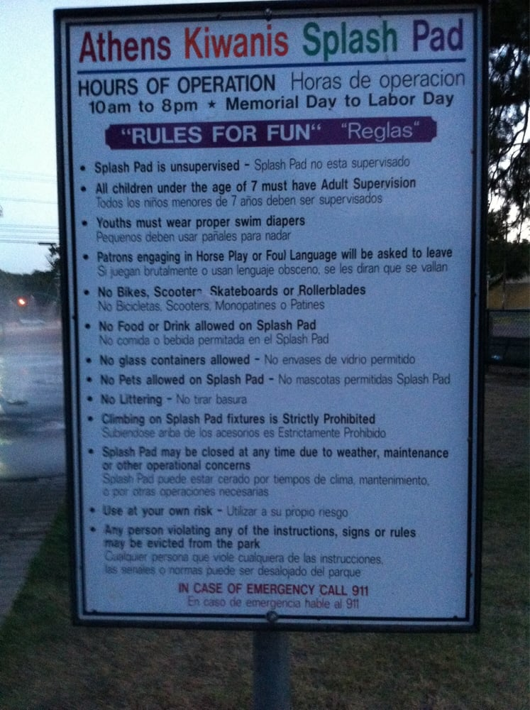 Kiwanis City Park: 406 S Prairieville St, Athens, TX