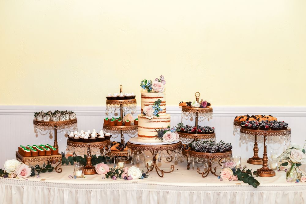 Dessert Table With Wedding Cake Chocolate Covered Strawberries Key