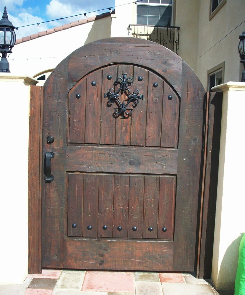 Old Vintage Distressed Wood Privacy Gate Chocolate Color