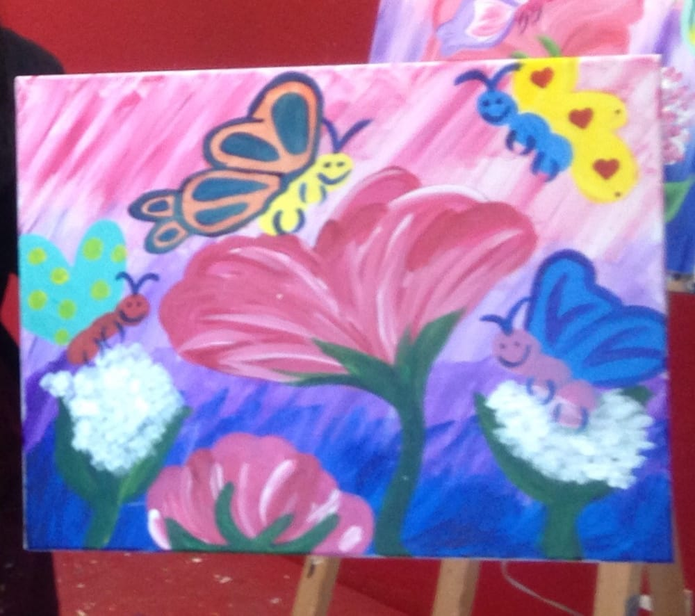 Happy butterflies yelp for Painting with a twist arizona