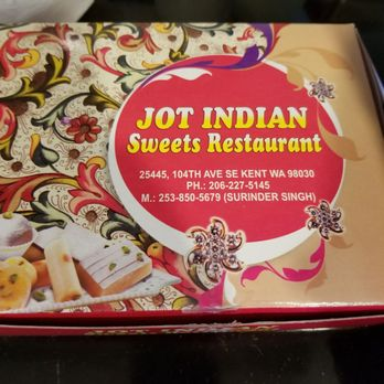 Jot Indian Sweets Restaurant Kent Wa
