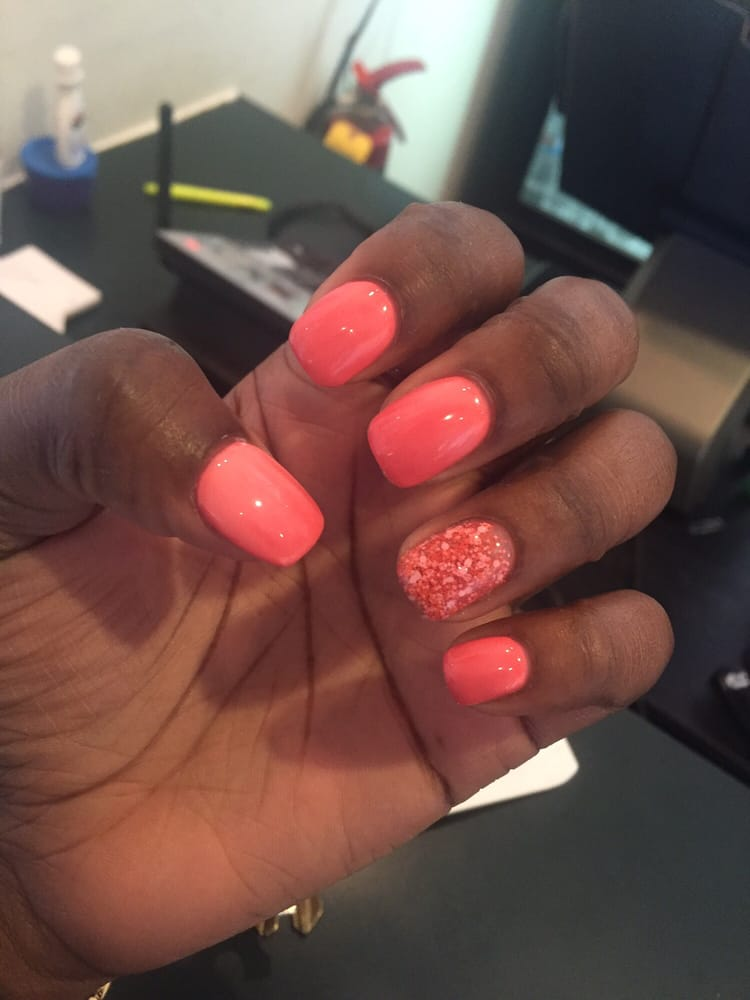 Mood changing shellac polish ($40 - with fancy nail). Done by Thao ...