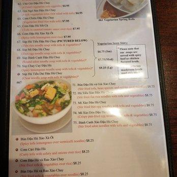 Cafe Trang Albuquerque Menu
