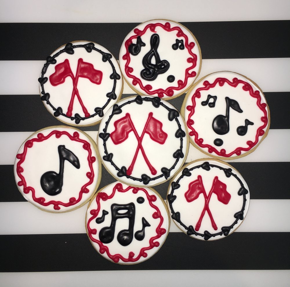 Custom sugar cookies created for our Marching Band Festival