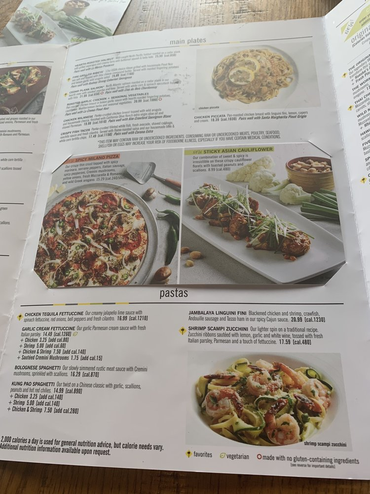 Photos For California Pizza Kitchen At Burbank Menu Yelp
