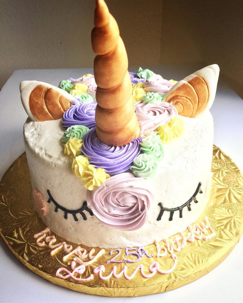 Cake Decorating Unicorn Horn : Unicorn cake (10 inches), a steal at USD40. I made the ...
