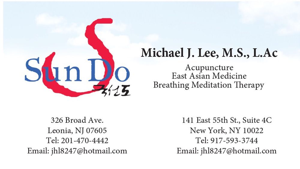 Sundo Acupuncture business card - Yelp