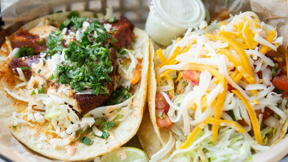 Food from Torchy's Tacos