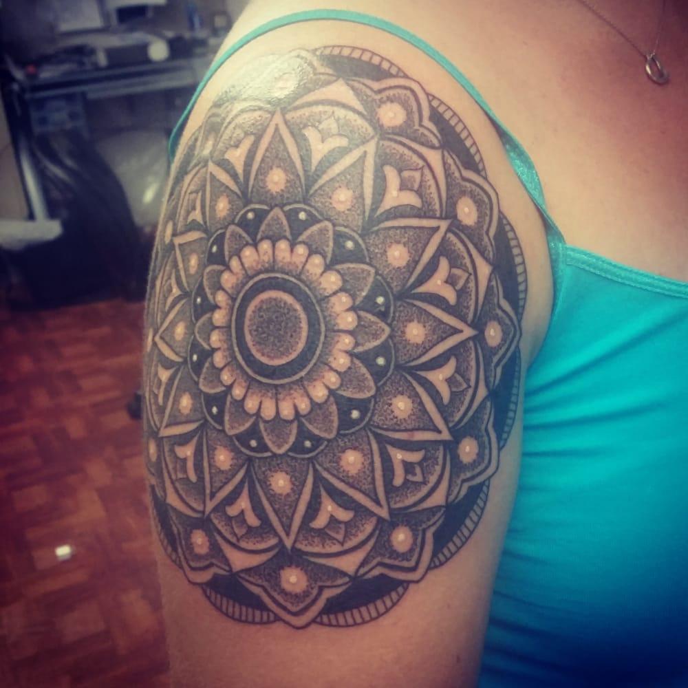 Mandala Tattoo The Start To A Half Sleeve By Nigel Yelp