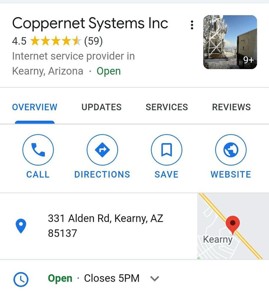 Systems Coppernet: 100 Tilbury Dr, Kearny, AZ