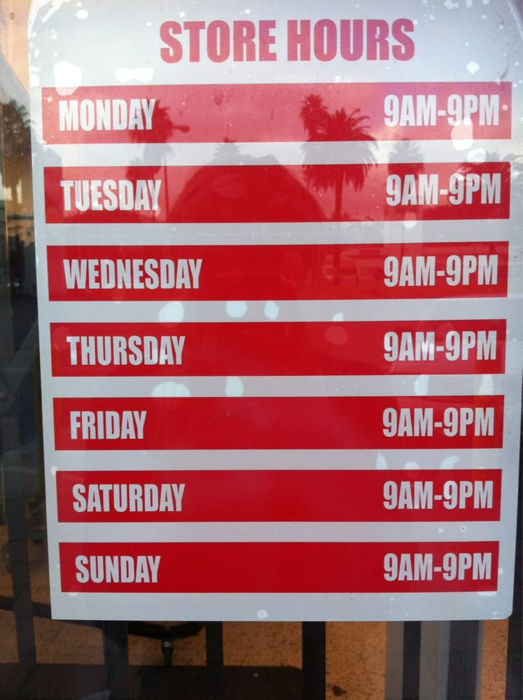 Fallas clothing store hours