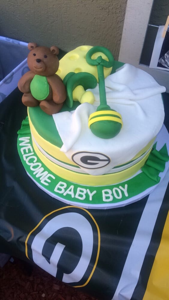 The Green Bay Packers Baby Shower Cake Beautiful Yelp
