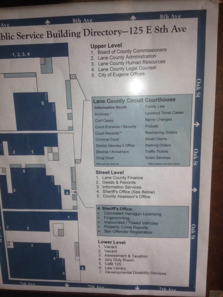 Lane County Government Building - Public Services
