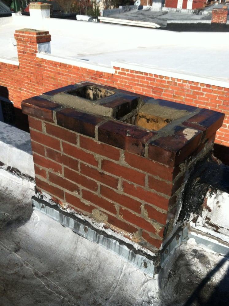 Finished chimney repair before chimney cap Yelp