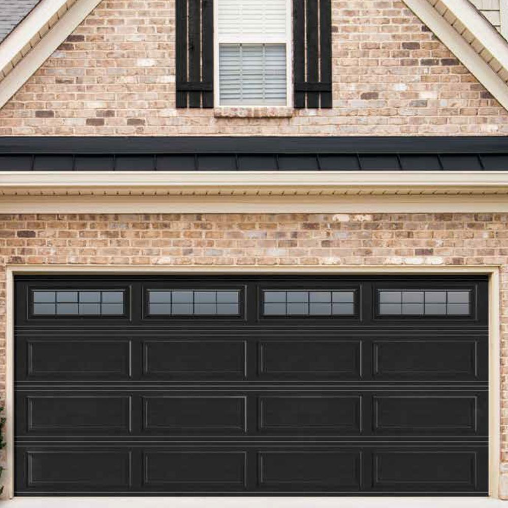 Wayne Dalton Garage Doors Ranch Panel Black Finish