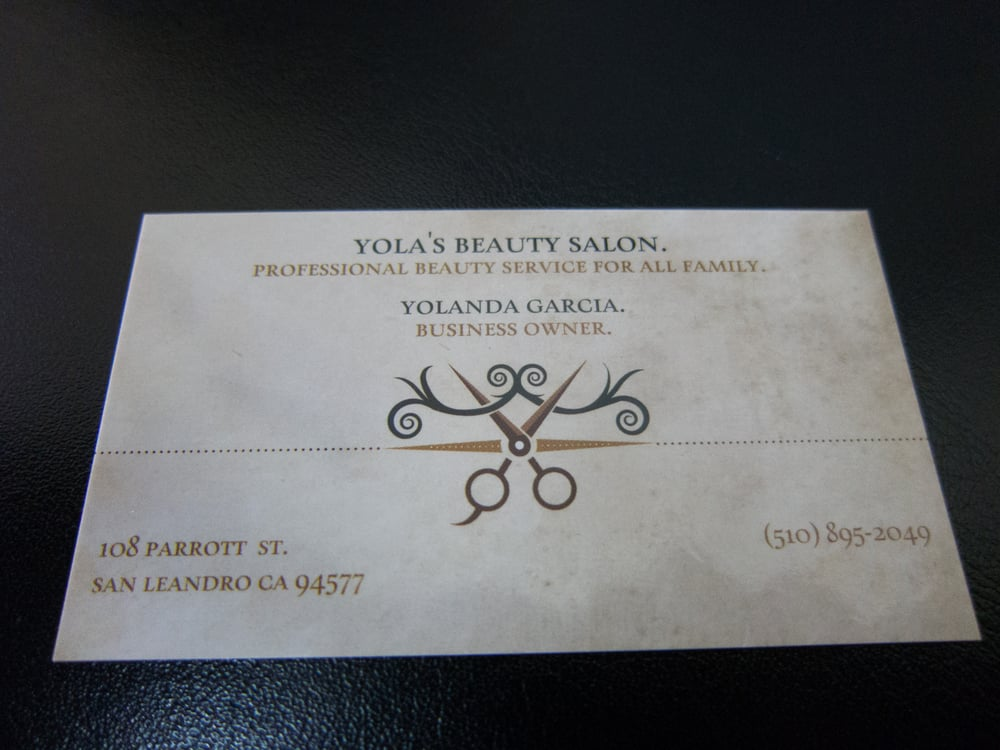 Owners business card yelp photo of yolas beauty salon san leandro ca united states owners business colourmoves