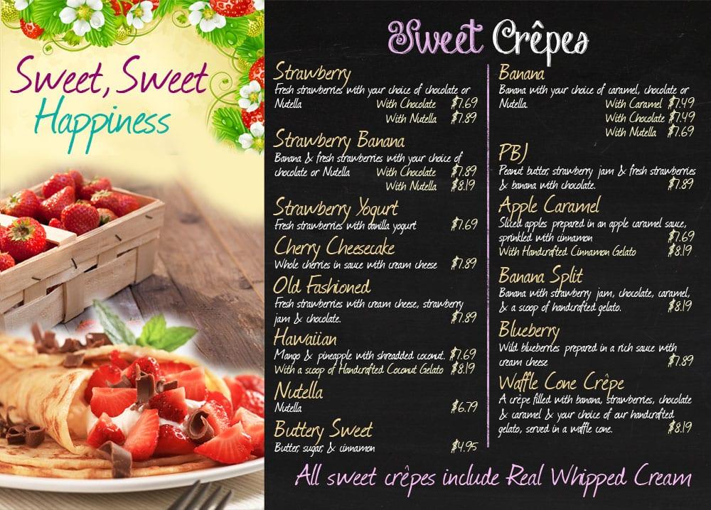 Crepe Cafe Menu Prices
