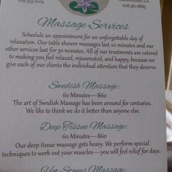 Photo of Zen Massage Therapy - Marietta, GA, United States. Menu of massages