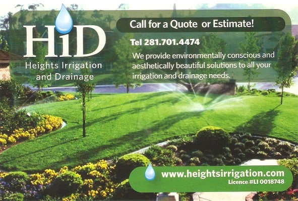 Heights Irrigation and Drainage: 6613 N Main St, Houston, TX