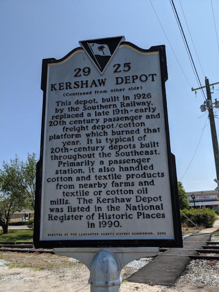 Welsh's Station Historical Marker: N Cleveland St, Kershaw, SC