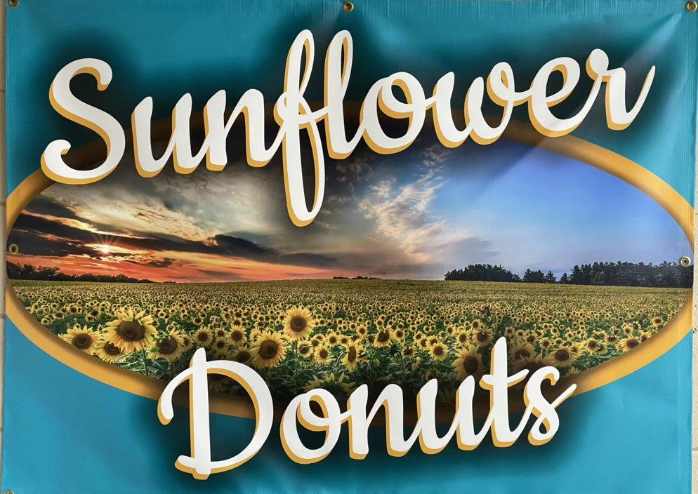 Sunflower Donuts: 118 S Franklin St, Colbert, OK