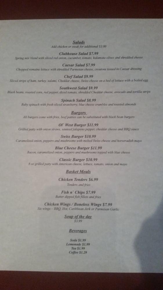 Shawnee Clubhouse Grill: 1 Shawnee Way, Institute, WV