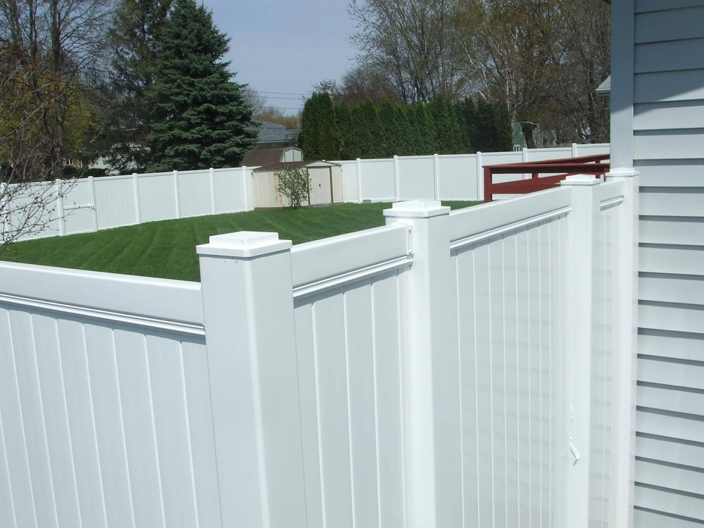 6 Foot High White Vinyl Fence Installed Yelp