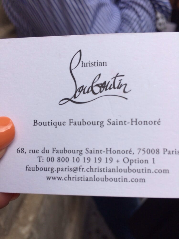christian louboutin saint honoré