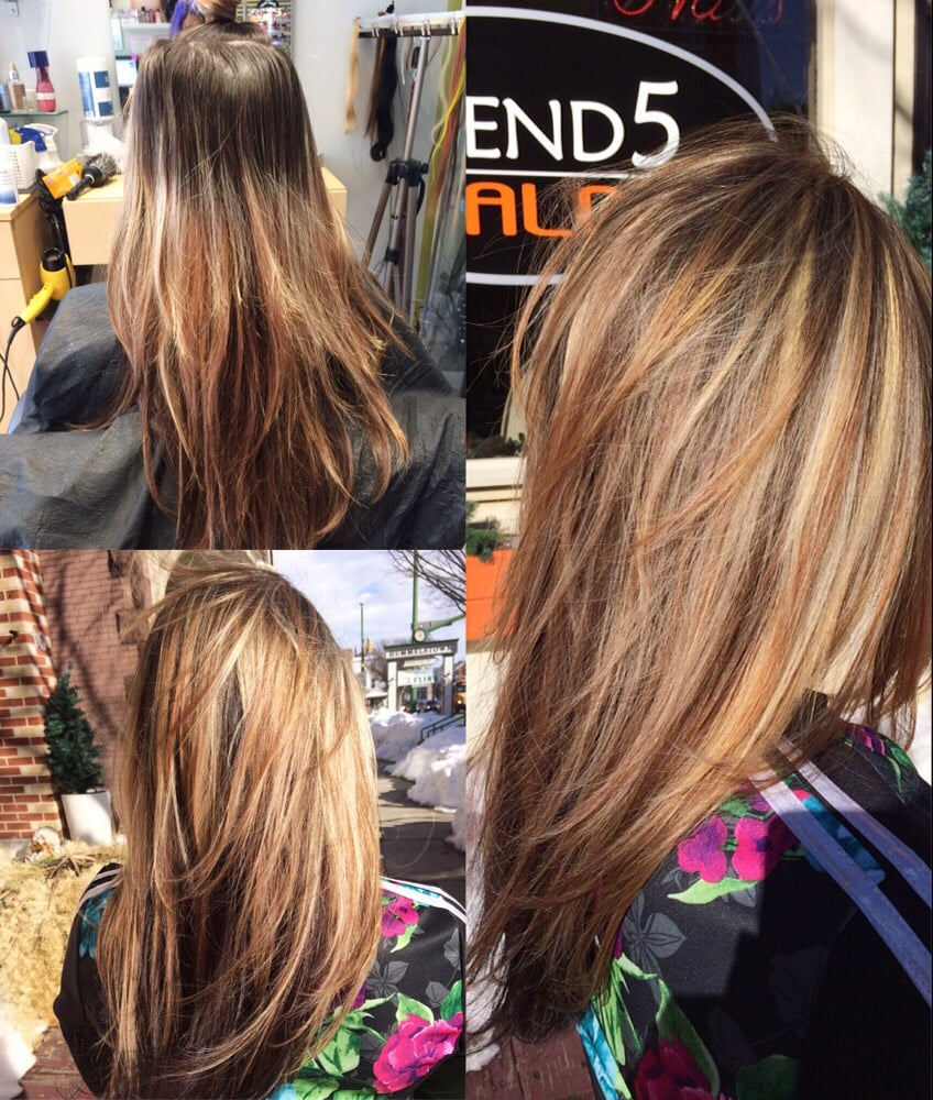 Hair Color Grown Out Then Come In A Get A Full Partial Highlight On