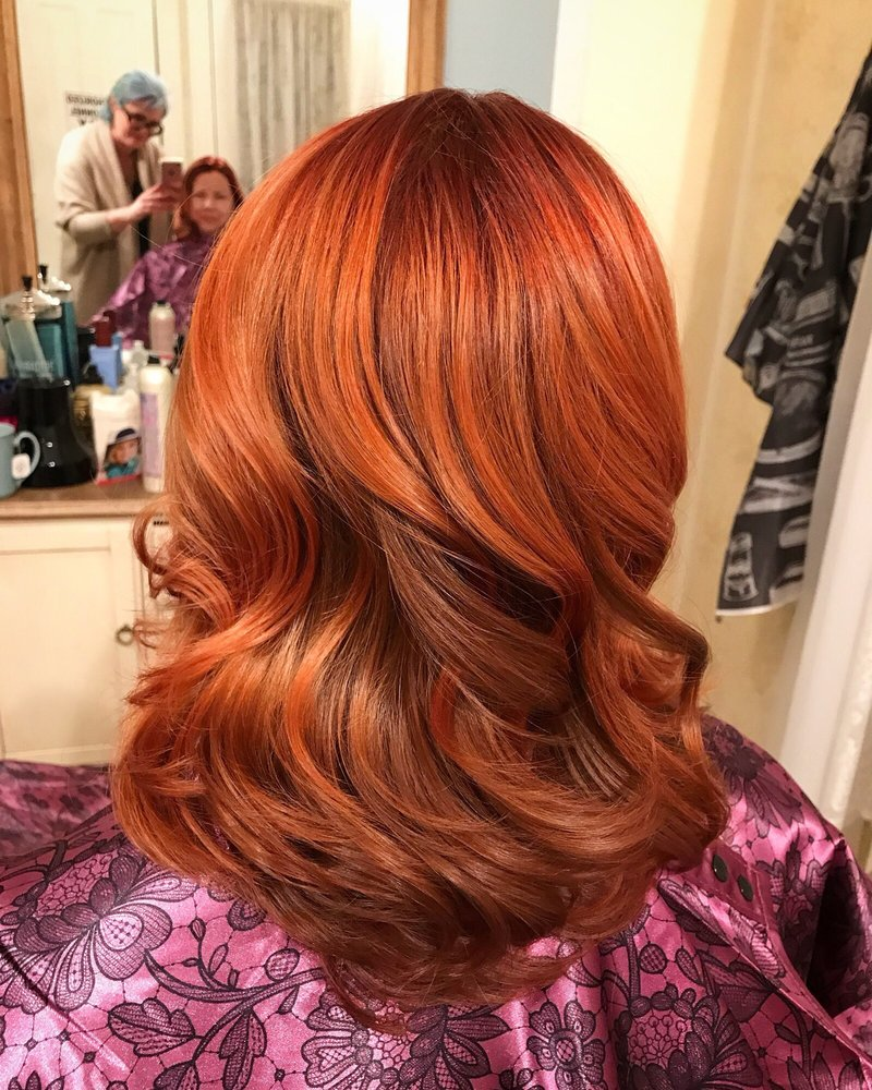 Copper Hair Color By Davines Anew Color Yelp