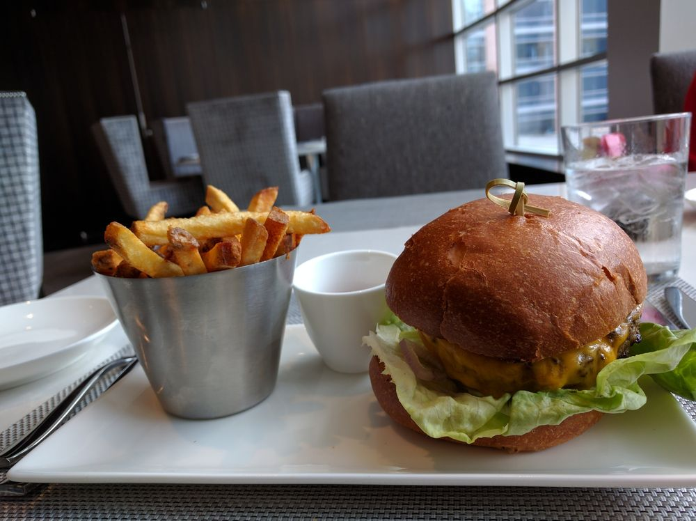 Fancy burger & fries were delish! - Yelp