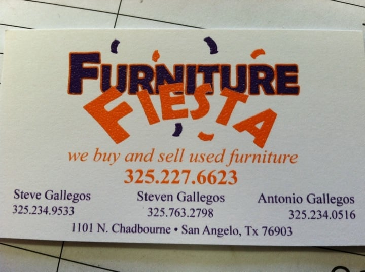 Furniture Fiesta   Furniture Stores   1101 N Chadbourne St, San Angelo, TX    Phone Number   Yelp