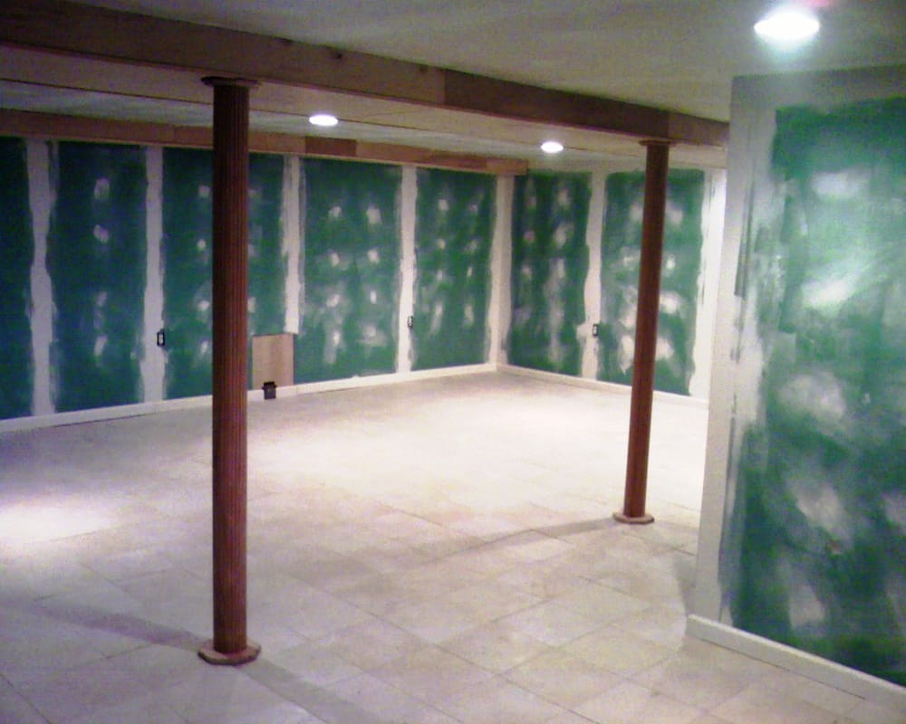 Basement Lighting Recessed Ceiling: Finished Basement With New Floor, Ceiling (recessed Lights