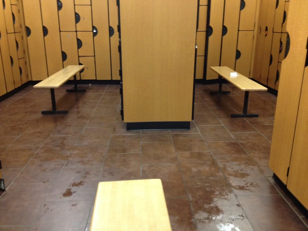 Wet floors throughout the entire locker room horrible