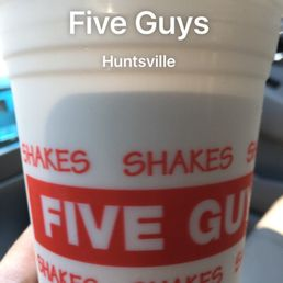 P O Of Five Guys Huntsville Al United States Vanilla Shake From Five