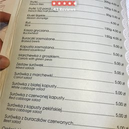 Photos For Kuchnia U Doroty Menu Yelp