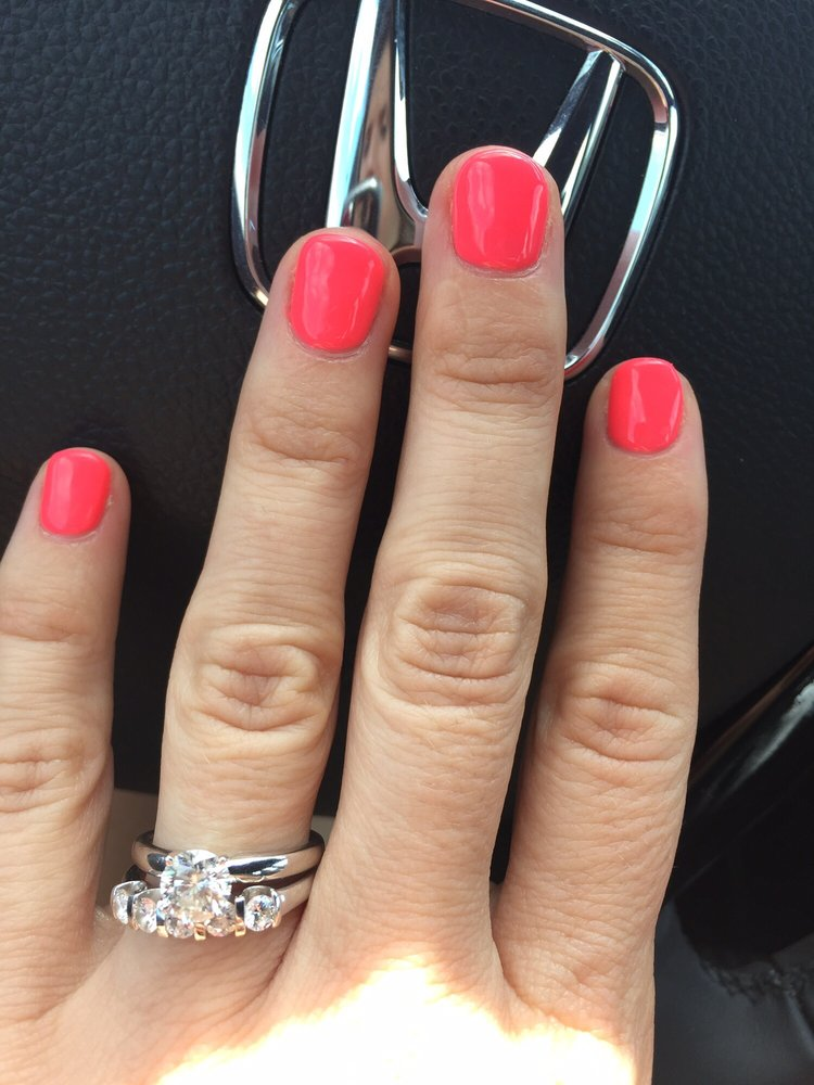 Beautiful hot pink gel manicure - Yelp