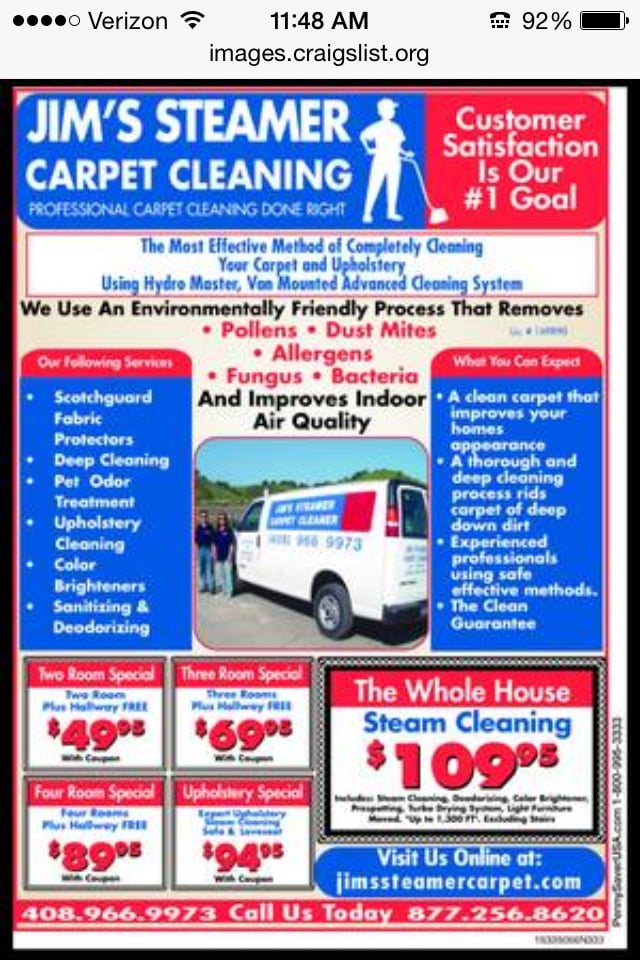 Photos For Jim S Steamer Carpet Cleaner Yelp