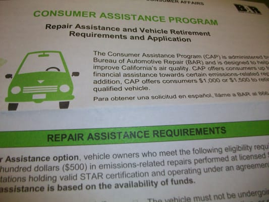 Car Retirement Program Ca >> Consumer Assistance Program Vehicle Retirement 10949 N Mather Blvd