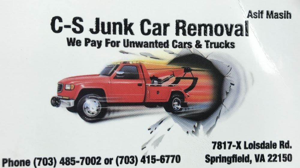 C-S Junk Car Removal - Towing - 7817 Loisdale Rd, Springfield, VA ...